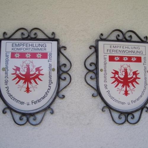 Gästehaus Burgi Auszeichnung Privatzimmervermieter
